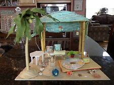 American Girl AG Minis Seaside Cabana Complete Set Working Lights