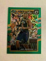 K1) 2017-18 Panini Optic Joe Johnson Emerald Prizm 1/5 Utah Jazz