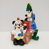 Merry Mickey Clause - Mickey Mouse & Goofy Figures Statue - Schmid - Disney