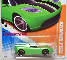 HOT WHEELS 2011 TRACK STARS TESLA ROADSTER #2/15 GREEN
