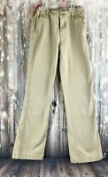 PS From Aeropostale Youth Girls Khaki Bootcut Pants Size 14 Cotton Spandex