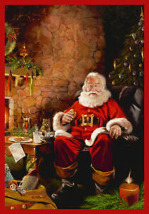 "2x4 Milliken Santa Treats Pictorial Fireplace Area Rug - Approx 2'8""x3'10"""