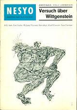 NESYO. N. 4-5, 1. Jahrgang, November 1963. Versuch uber Wittgenstein