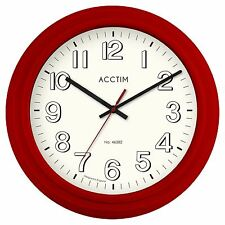 Acctim Burton Retro Style Cinema Red Wall Clock 25cm