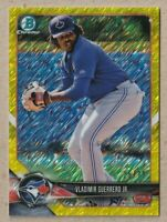 2018 Bowman Chrome Vladimir Guerrero Jr Canary Yellow Shimmer Refractor 25/75