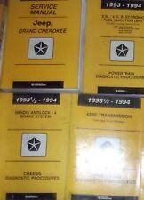1994 JEEP GRAND CHEROKEE Shop Service Repair Manual SET W DIAGNOSTICS MANUALS 94