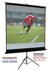 8 Ft. X 6 Ft. , TRIPOD STAND TECHNOLITE HOME CINEMA PROJECTOR SCREEN, A+++++
