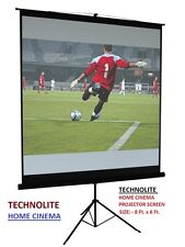 TRIPOD 8 Ft. X 6 Ft. TECHNOLITE HOME CINEMA PROJECTOR SCREEN, A+++++ GRADE