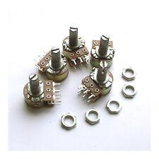 3 pcs B10K Dual Potentiometer Pots 15mm Split Shaft 6pin