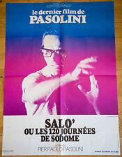 Affiche de cinéma : SALO OU LES 120 JOURNEES DE SODOME de PIER PAOLO PASOLINI