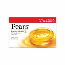 Pears Pure And Gentle Soap Bar, 125g pack of 3 Free Shipping UK