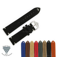 Vintage Leather Straps For Rolex Tudor and For Seiko Watches With Buckle + Tools