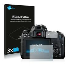 6x Displayschutzfolie für Canon EOS 77D Schutzfolie Klar Folie Displayfolie