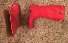 Womens Red Original Tall Hunter Boots US Size 6M