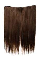 Postiche large Extensions cheveux 5 Clips lisse Brun-Blond-Mix 45cm L30173-12/26
