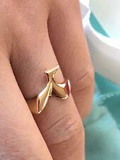 RARE Tiffany & Co. Elsa Peretti Retired Hummingbird Ring 18k Yellow Gold Size 5
