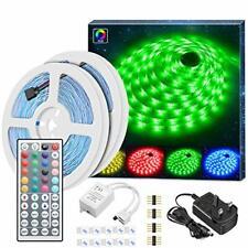 Minger LED Strip Lights Kit, Non-waterproof 2x5m(10m in Total) 5050 RGB 300led