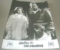Kino Aushangfoto Portrait , WAFFEN FÜR SAN SALVADOR ,MARIA CANALE,FRANK LATIMORE
