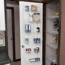 6 Shelf Over Door Pantry Organizer Rack Metal Storage Kitchen Supply Adjustable