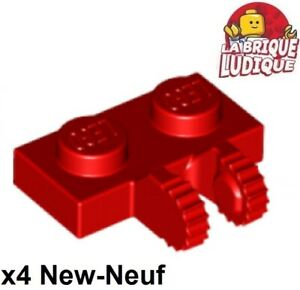 Lego 4x Charnière hinge plate plaque 1x2 locking rouge/red 60471 NEUF