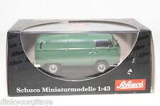 . SCHUCO 3211 VW VOLKSWAGEN TRANSPORTER T2 KASTENWAGEN VAN GREEN MINT BOXED