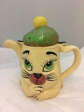 Teekanne, Kaffeekanne, Katzenkanne, Katze, Kanne, Grumpy Cat mit Schottenmütze
