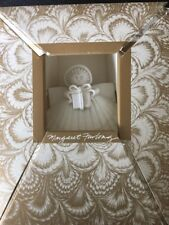 Margaret Furlong Pocelain Designs Angel Shell Ornament In Box