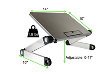 UNCAGED Ergonomic Portable, Lightweight, Aluminum Adjustable Height Laptop Stand