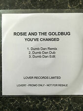 ROSIE AND THE GOLDBUG YOU'VE CHANGED 3 TRACK UK PROMO CD RARE *FUNKY HOUSE*
