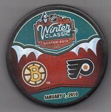 2010 Winter Classic Boston Bruins Flyers Fenway Park NHL Hockey Puck + FREE Cube