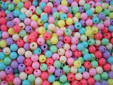 Beads 8mm Round Pastel Mix 100g Spacer Jewellery Necklace Bulk Pack FREE POSTAGE
