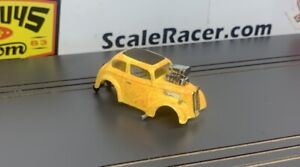 NEW OFFERING- Yellow Flake Anglia  Body for Aurora Dash Tjet type Chassis