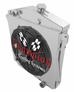 "3 Row CR Champion Radiator,16"" Fan,Shroud - 1943 - 1948 Chevy Cars Chevy V8 Conv"