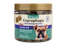 NaturVet COPROPHAGIA Soft Chew Bottle Dog Stool Eating Deterrent 130 count