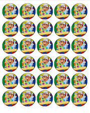 30 HANDY MANNY Edible Cupcake Toppers Wafer Paper Birthday Cake Decorations #1