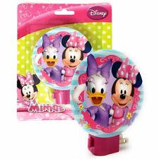 Disney Minnie Mouse, Daisy Duck Night Light Blue, Pink Girls Kids Lamp NEW