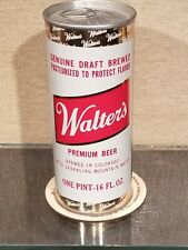 16 Ounce 1970s Bottom Opened Walter'S Pull Tab Top Beer Can Walter Pueblo Co