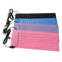 PC Flexible USB Mini Silicone Keyboard  Roll Up Keyboard for Notebook Laptop