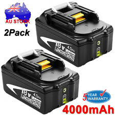 2x For Makita BL1840B BL1850B 18V 4.0Ah Rechargeable Lithium Battery w/Indicator