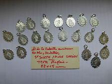 lot : 20 ancienne medaille dentellée St Joseph / Ange Gardien TEXTE ANGLAIS  alu