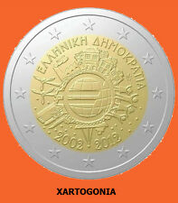 "GREECE COINS 2012, 2 EUROS, UNC,  ""10 YEARS EURO ANNIVERSARY"""