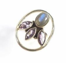 Cabochon Amethyst Sterling Silver Fine Rings