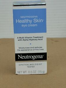 Neutrogena HEALTHY SKIN multi-vitamin EYE CREAM .5oz Alpha-Hydroxy Acid