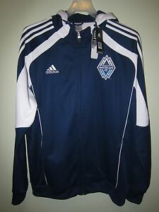 BNWT Vancouver Whitecaps 2011 Adidas track top 2XL XXL jacket shirt jersey MLS