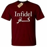 INFIDEL T Shirt Mens Funny Anti isis terrorism tee