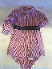 NWT Ralph Lauren Belted 2 PC Dress Set 6M