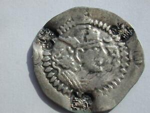 CHAGANIAN KINGS TOKHARISTAN AR DRACHM 2.52g 27mm 3h KHUSRU I BUST C/M 3 HEADS