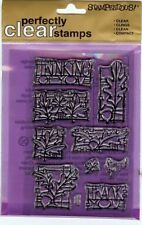 Stampendous Perfectly Clear Stamps - Glasswork Leaves Set - SSC050 - NEW