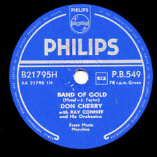 10 inch 78 RPM Record  - Don Cherry - Band Of Gold/ Rumble Boogie