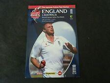 AUSTRALIA VS ENGLAND 2ND TEST RARE 2009 CRICKET PROGRAMME!